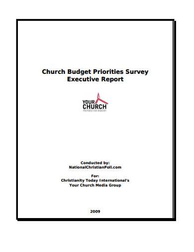church budget priorities survey executive report