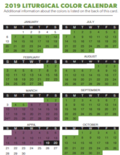 church colors calendar