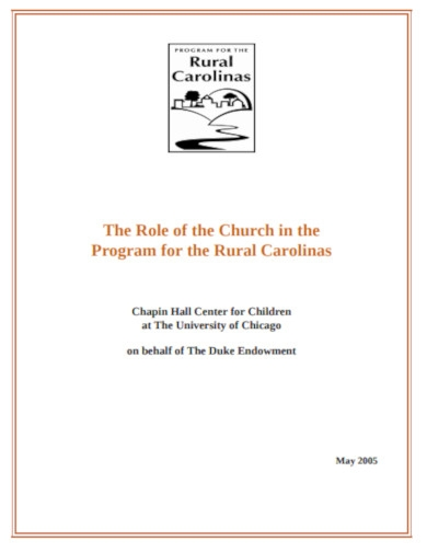 church in the program for the rural carolinas