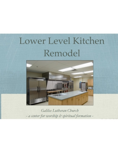 church kitchen remodel presentation