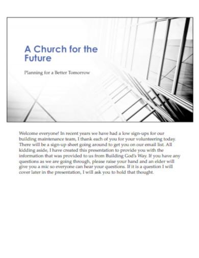 church presentation for the future
