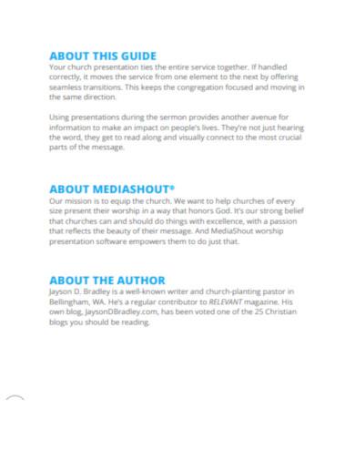 church presentation tips mediashout
