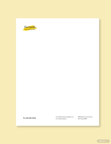 cleaning services letterhead