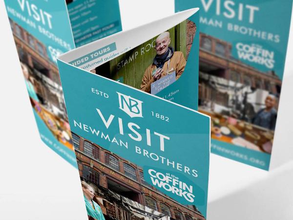 coffin works marketing leaflet