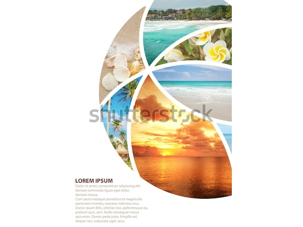 collage travel brochures