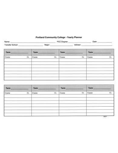 college yearly planner