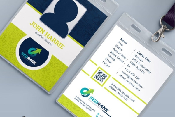 company employee event id badge card