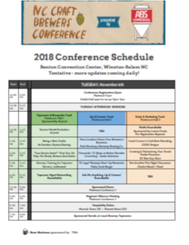 conference schedule in pdf