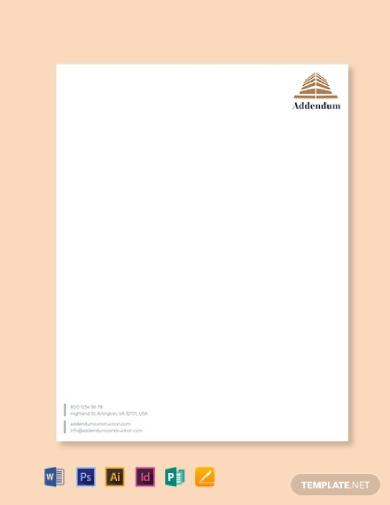 construction company letterhead