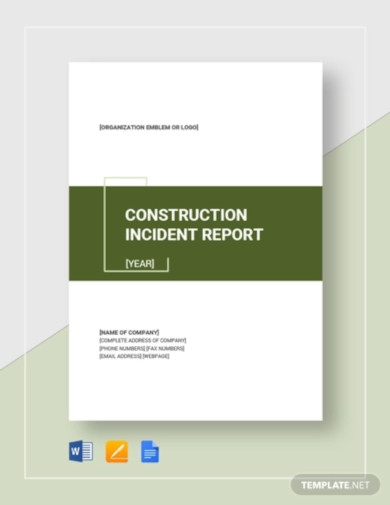 construction incident report template2