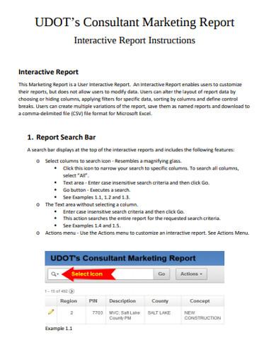 consultant marketing report
