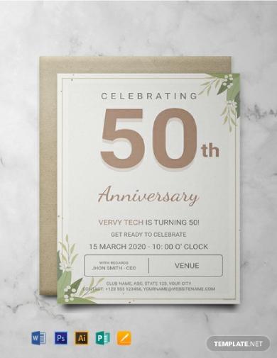 corporate anniversary event invitation