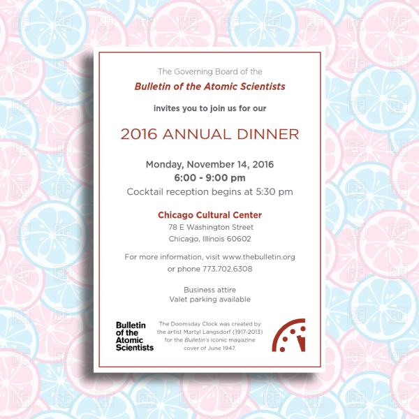 corporate annual dinner event invitation