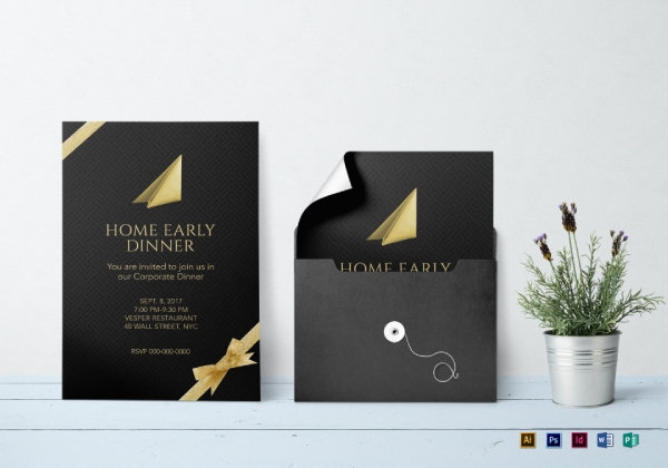 corporate dinner event invitation