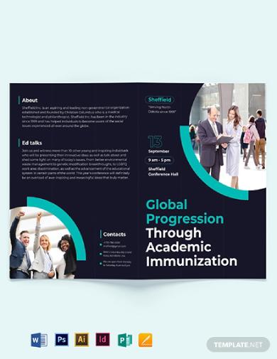 corporate event bi fold brochure template