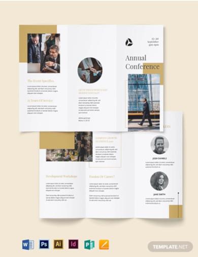 corporate event brochure