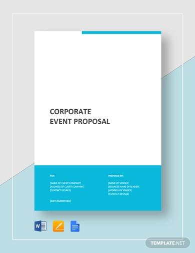 corporate event proposal template