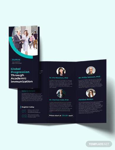 corporate event tri fold brochure