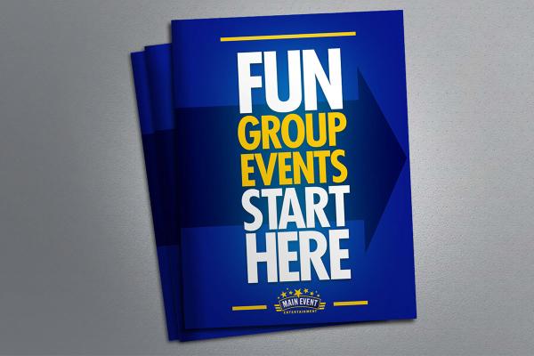 corporate fun group event brochure