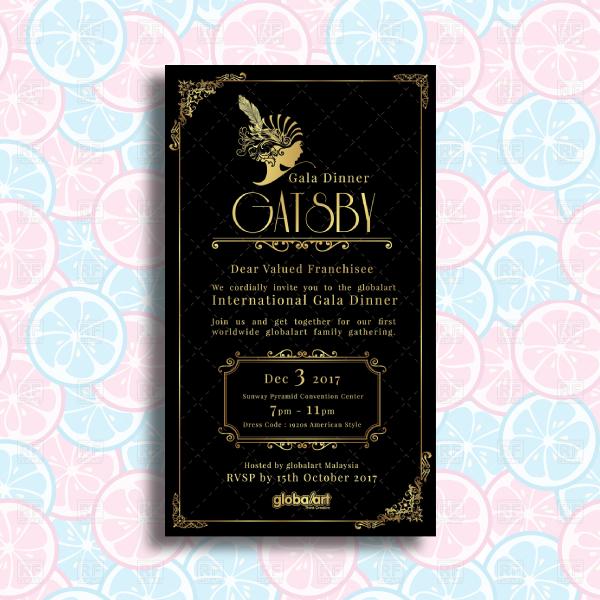 corporate gala dinner event invitation