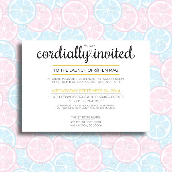 corporate magazine launching event invitation