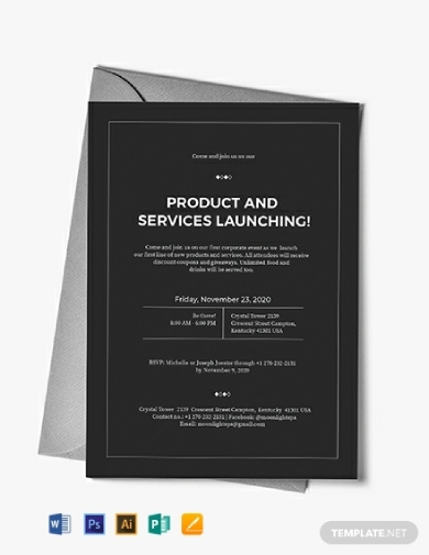 corporate product and service lauching event invitation