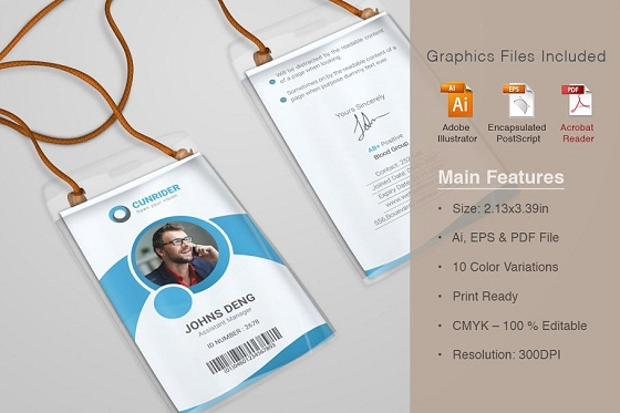 corporate real estate id card templates