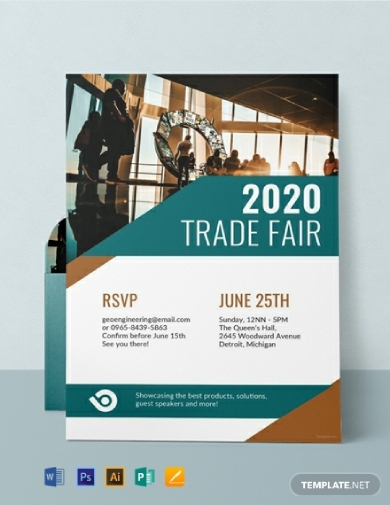 corporate trade fair event invitation