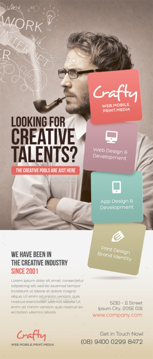 creative design agency roll up banner