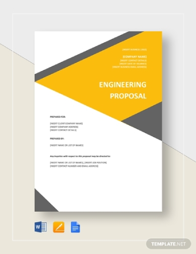 creative engineering project proposal template