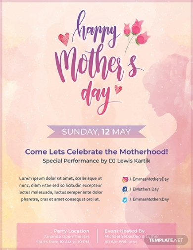 creative mothers day flyer