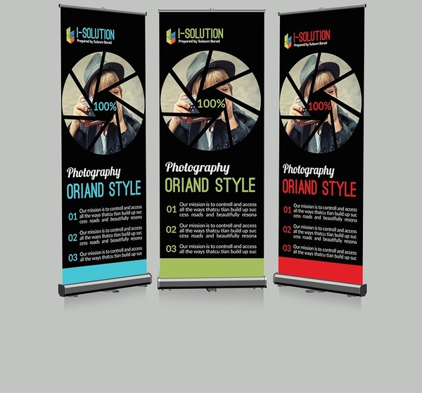 creative roll up banner for photography