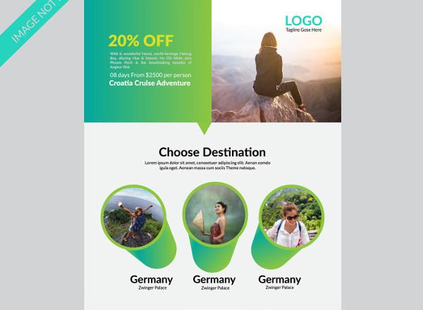 creative travel flyer
