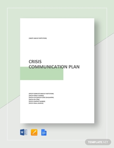 crisis communication plan sample