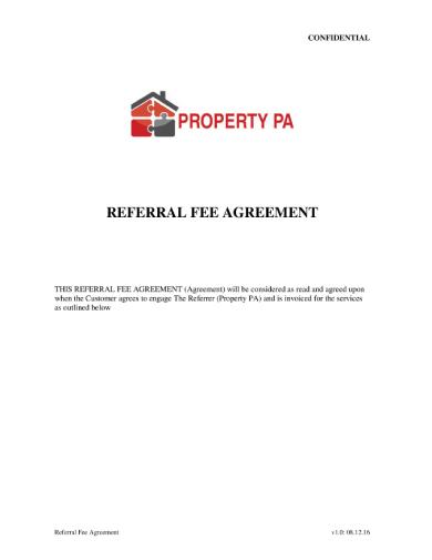 customer referral agreement