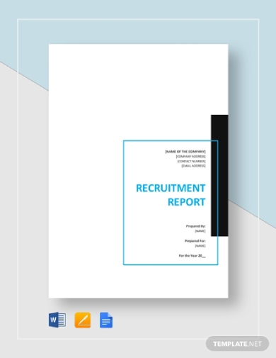 customizable recruitment report