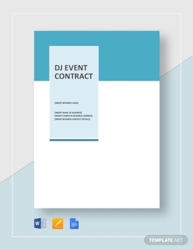 dj event contract