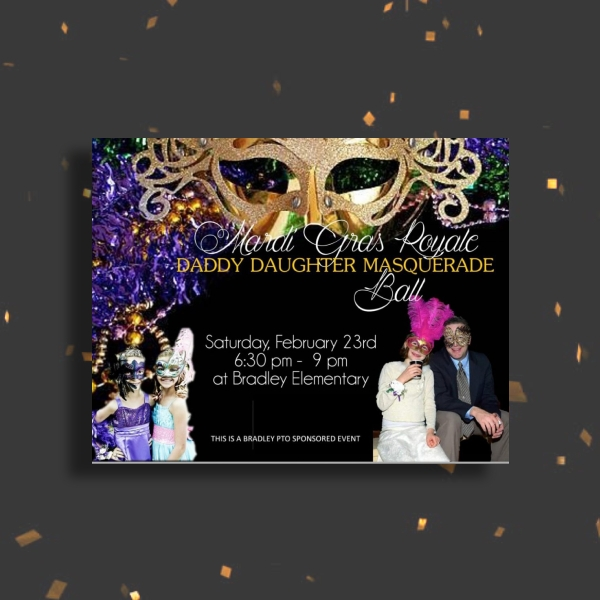 daddy daughter masquerade ball invitation