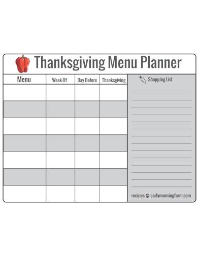 daily menu planner