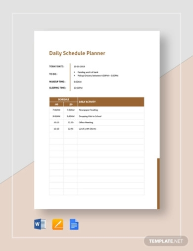 daily schedule planner template1