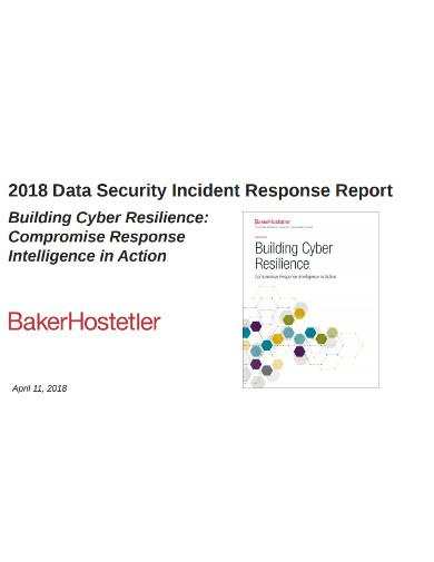 data security incident response report
