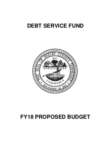debt service fund proposed budget
