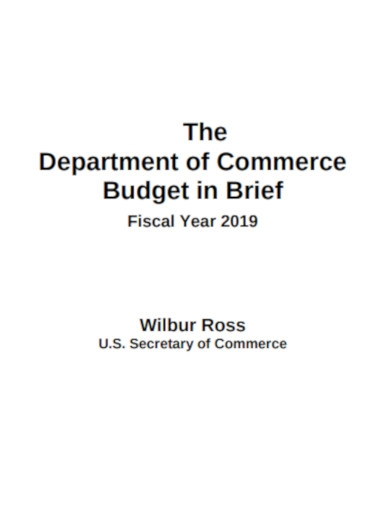department of commerce budget