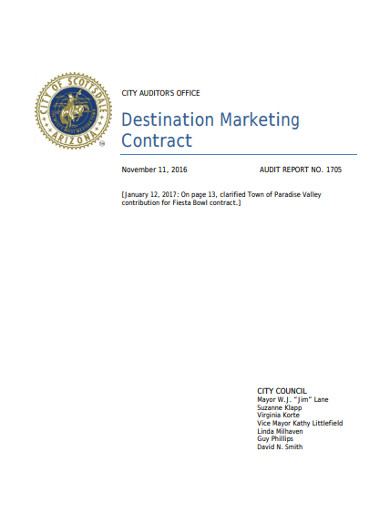 destination marketing contract