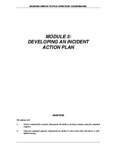 developing an incident plan
