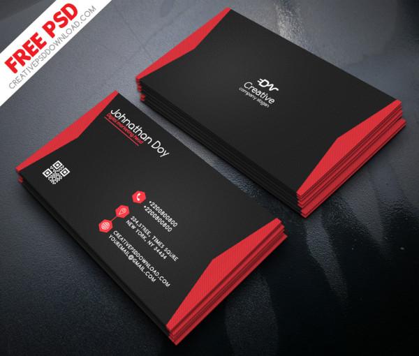 digital marketing business card psd