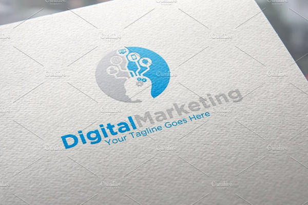 digital marketing logo template
