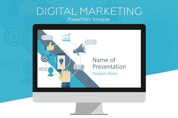 digital marketing presentation template