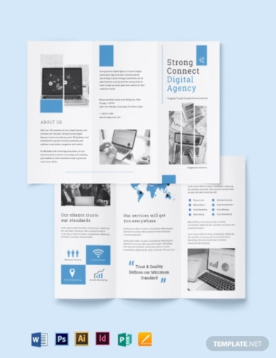 digital marketing services brochure template
