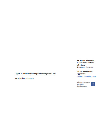 direct marketing advertising rate card